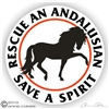 Andalusian Horse Rescue Sticker or Static Cling Decal