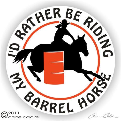 barrel racing decal - photo #22
