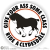 Clydesdale Vinyl Decal
