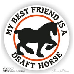 Draft Horse Vinyl Decal