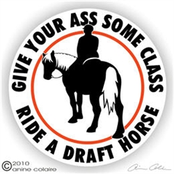 Draft Horses Vinyl Decal