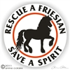 Friesian Horse Trailer Decal