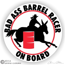 Mule Barrel Racer Decal