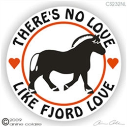 Fjord Horse Trailer Decal