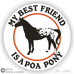 Pony of the Americas Decal