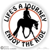 Hunter Under Saddle Horse Trailer Decal