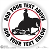Horse Reiner Horse Trailer Decal