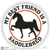 Saddlebred Horse Trailer Decal