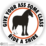Shire Horse Trailer Decal