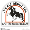 Spotted Saddle Horse Trailer Decal