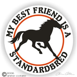 Standardbred Horse Trailer Decal