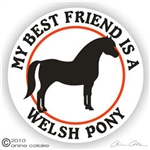 Welsh Pony Horse Trailer Decal
