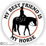 Western Pleasure Horse Trailer Decal