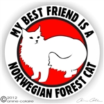 Norwegian Forest Cat Decal