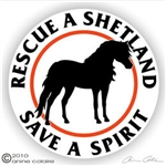 Shetland Pony Horse Trailer Decal