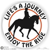Dressage Rider Horse Trailer Decal