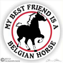 Belgian Draft Horse Trailer Decal