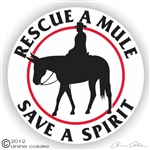 Saddle Mule Decal