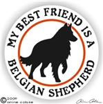 Belgian Sheepdog Window Decal