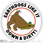 Earthdog Decal