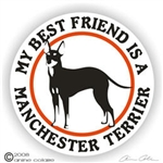 Manchester Terrier Decal