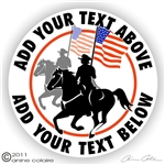 Drill Team Horse Trailer Decal