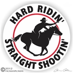 Mounted Shooting Horse Trailer Decal