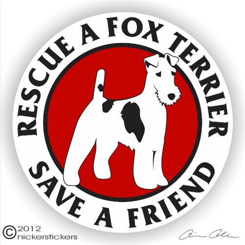 Fox Terrier Decal Larger Photo Email A Friend