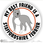 Staffordshire Terrier Decal