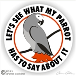 African Grey Decal