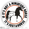 Mini Horse Appy Vinyl Decal