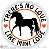 Mini Horse Solid Vinyl Decal