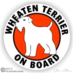 Wheaten Terrier Decal
