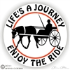 Horse Driving Horse Trailer Decal