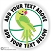 Ringneck Parrot Decal