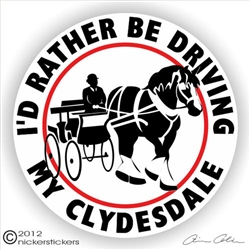Clydesdale Draft Driving Horse Trailer Decal