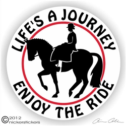 Side Saddle Horse Trailer Decal