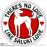 Saluki Hound Dog Vinyl Decal Car Auto Laptop iPad Sticker