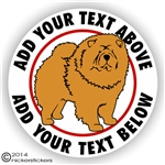 Custom Chow Chow Dog Vinyl Decal Sticker