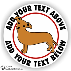 Custom Chiweenie Dog Vinyl Decal Sticker Static Cling RV Truck Car Window