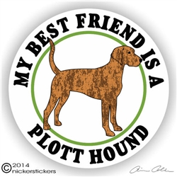 Plott Hound Best Friend Decal Sticker Static Cling Car Truck RV Window