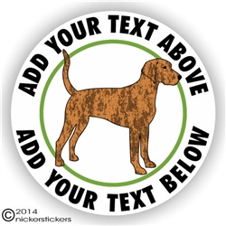 Custom Plott Hound Dog Sticker Decal Static Cling