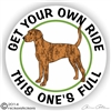Plott Hound Full Rid Decal Sticker Static Cling Car Truck RV Window