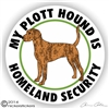 Plott Hound Security Decal Sticker Static Cling Car Truck RV Window