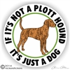 Plott Hound Decal Sticker Static Cling Car Truck RV Window
