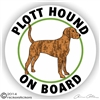 Plott Hound on Board Dog Decal Sticker Static Cling Car Truck RV Window
