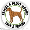 Plott Hound Rescue Dog Decal Sticker Static Cling Car Truck RV Window