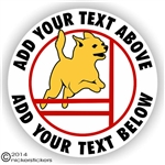Agility Chihuahua Dog Decal Sticker Static Cling