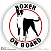 Boxer on Board Dog Window Car RV Decal Sticker Static Cling