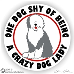 Old English Sheepdog Decal